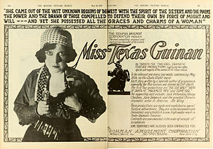 Texas Guinan - Advertisement for films