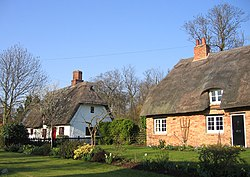 Thatched cottages, High Street, Croxton, Cambs - geograph.org.uk - 386153.jpg