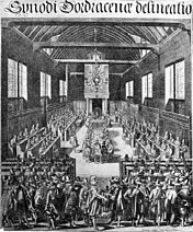 The Dordrecht Synod (17th century engraving)