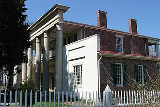 History of Tennessee - The Hermitage, plantation home of President Andrew Jackson, now a museum in Davidson County