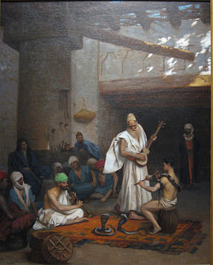 The Snake Charmer - Another painting by Jean-Léon Gérôme entitled The Snake Charmer