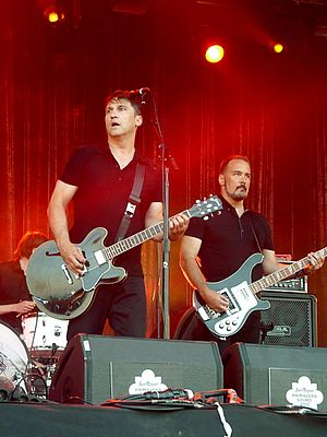 The Afghan Whigs - Frontman Greg Dulli (2nd from left) and bassist John Curley (right), 2012