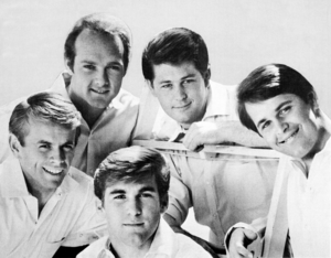 "California Sound - The Beach Boys in a promotional shot used for their 1965 single ""California Girls"""