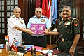 The Chairman Chiefs of Staff Committee and Chief of Air Staff, Air Chief Marshal P.V. Naik releasing two Joint Operational Doctrines, in New Delhi on June 16, 2010.jpg