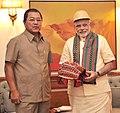 The Chief Minister of Mizoram, Shri Lalthanhawla calling on the Prime Minister, Shri Narendra Modi, in New Delhi on June 09, 2014.jpg