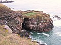 The Colsea Yawn cliff cave near Cove Bay, Aberdeen - geograph.org.uk - 409131.jpg