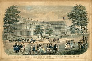 The Crystal Palace - The Crystal Palace in Hyde Park for Grand International Exhibition of 1851
