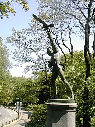 George Blackall Simonds - Image: The Falconer sculpture in Central Park, New York