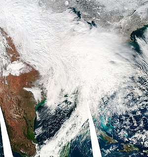 2009–10 North American winter - The first of 3 blizzards to impact the Northeast in early February 2010.