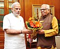 The Governor of Uttar Pradesh, Shri Ram Naik calling on the Prime Minister, Shri Narendra Modi, in New Delhi on June 12, 2015.jpg