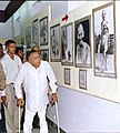 The Minister of Information & Broadcasting and Culture Shri S. Jaipal Reddy visiting an exhibition on Mahatma Gandhi at National Museum in New Delhi on October 1, 2004.jpg