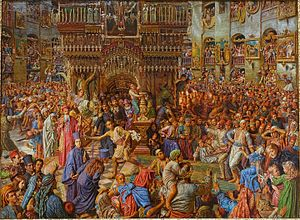 The Miracle of the Sacred Fire, Church of the Holy Sepulchre, by William Holman Hunt, 1892-1899, oil on canvas - Fogg Art Museum, Harvard University - DSC01263.jpg