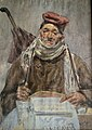 The Newspaper Seller, 1885 Watercolor, artist unknown, Catalan Art.jpg