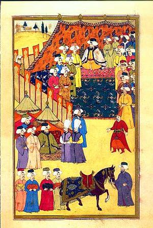 Surname-i Hümayun - The pashas from around the Ottoman Empire gather to give the Sultan gifts.