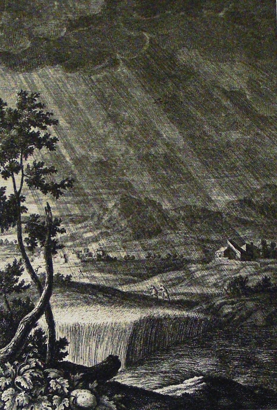 The Phillip Medhurst Picture Torah 615. The song of Moses. His doctrine as the rain. Deuteronomy cap 32 v 2. Pintz