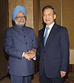 The Prime Minister, Dr. Manmohan Singh meeting with the Chinese Prime Minister Mr. Wen Jiabao, on the sideline of 6th India-ASEAN & 3rd East Asia Summit, in Singapore on November 21, 2007.jpg