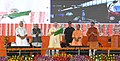 The Prime Minister, Shri Narendra Modi flagging off the Varanasi-Ballia MEMU train, in Varanasi, Uttar Pradesh.JPG