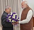 The Prime Minister, Shri Narendra Modi greeting the President, Shri Pranab Mukherjee, on his birthday, at Rashtrapati Bhavan, in New Delhi on December 11, 2016.jpg