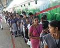 The School Children in and around Karur visiting the exhibition of Red Ribbon Express arrived in Karur, Tamil Nadu on May 15, 2012.jpg