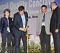 The Secretary, Department of Industrial Policy and Promotion (DIPP), Shri Amitabh Kant lighting the lamp to inaugurate the 10th National Quality Conclave, organised by the Quality Council of India, in New Delhi.jpg