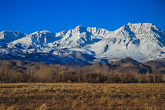 Bishop, California - Snowy Sierra Nevada Mountains as seen from Bishop, CA