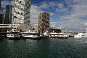 The Thomas Rennie, Sam McBride, Jadran, Trillium at the ferry terminal in Toronto.jpg
