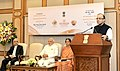 The Union Minister for Finance, Corporate Affairs and Information & Broadcasting, Shri Arun Jaitley addressing at the launches of the Gold schemes, in New Delhi. The Prime Minister, Shri Narendra Modi.jpg