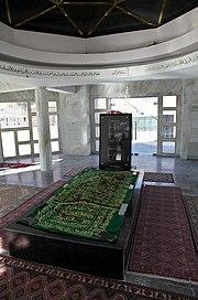 The body of Ahmad Shah Massoud