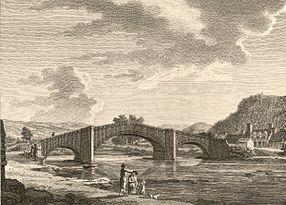 The bridge of Llanrwst, in Denbighshire