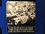 The crew's mess hall was used as an emergency hospital (photograph) - National Cryptologic Museum - DSC07640.JPG