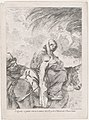 The flight into Egypt, the Virgin and Child on a donkey, Joseph to the left, after Luca Giordano MET DP876074.jpg