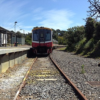 Stony Point railway station - Image: The nick green sprinter,7006 waits to depart October 2013