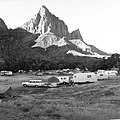 The overflow area of South Campground in June, 1964. ; ZION Museum and Archives Image ZION 14815 ; ZION 14815 (5e0fd577b8e64b84a59c85c14ef2e69c).jpg
