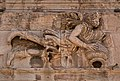 The relief panels on the frieze of the Tower of the Winds. The wind god Skiron.jpg