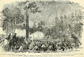 Battle of Corrick's Ford - Image: The soldier in our Civil War a pictorial history of the conflict, 1861 1865, illustrating the valor of the soldier as displayed on the battle field, from sketches drawn by Forbes, Waud, Taylor, (14762766515)