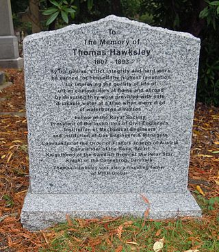 Hawksley's grave in Brookwood Cemetery Thomas Hawksley Grave Brookwood.jpg