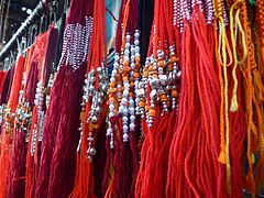 Threads of love rakhi, Raksha Bandhan Hindus Sikhs Jains India.jpg
