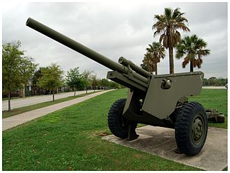 3-inch Gun M5 - M5 on carriage M6 on display at Fort Sam Houston, Texas