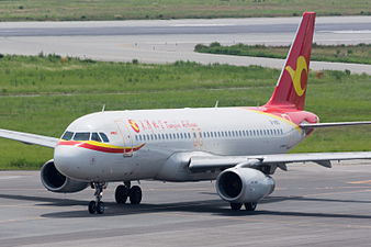 Tianjin Airlines, A320-200, B-1850 (19410462561).jpg