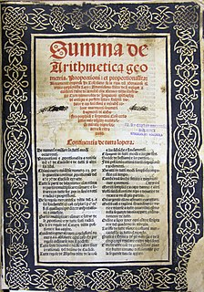 <i>Summa de arithmetica</i> Renaissance mathematics textbook