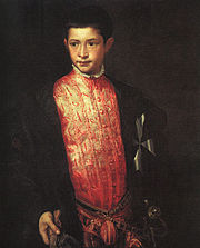 Tizian Portrait of Ranuccio Farnese