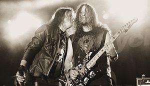 Michael Wilton - Queensrÿche singer Todd La Torre with Michael Wilton.