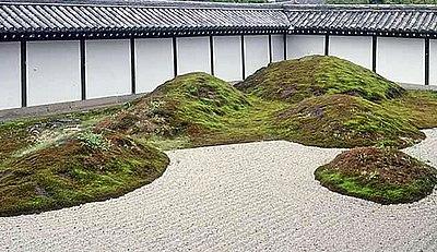 Karesansui-tuin in Tofuku-ji, Kyoto