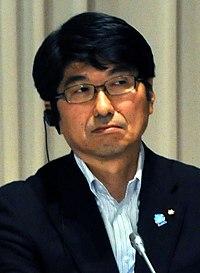 Tomihisa Taue cropped 2 Yukiya Amano and Tomihisa Taue 20110727.jpg