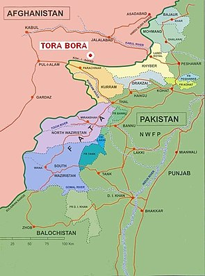 Battle of tora bora wikipedia location of tora bora in afghanistan near the pakistani border gumiabroncs Images
