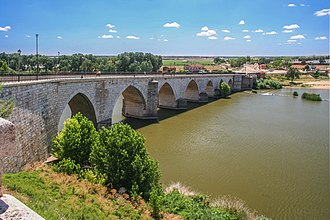 Tordesillas - Bridge over the Duero River.