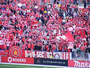 Toronto FC - Fans celebrate at a Toronto FC match