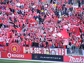 Toronto FC - Fans celebrate at a Toronto FC match