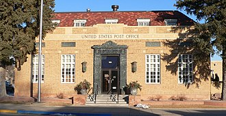 Goshen County, Wyoming - Image: Torrington, Wyoming post office from W 1