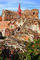 Toruń, ruiny zamku krzyżackiego (przewrócona wieża zamkowa) (OLA Z.).JPG